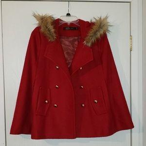 Vintage Wool Cape Coat